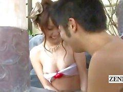Ondertiteld outdoor Japanse kyabakura badhuis fete