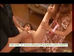 Rio and Kirara innocent Chinese girls playing with their pussies