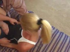 Brianna's Revenge On The Workout Equipment Sales Girls - MF/FF, Classic!