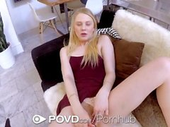 POVD Petite dick tease Lily Rader fuck and facial POV style
