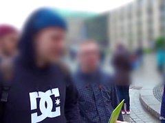 Bums Bus - Schwarzhaarige Deutsche Meli Deluxe von Jason Steel im Wagen gebumst