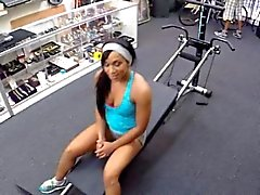 Muscular chick fucked in the pawnshop for a lot of money