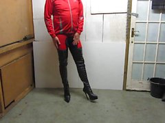 My leather lace up and rear zipper thigh boots