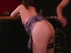Asian MILF licks his nut sack and gives head before they sc