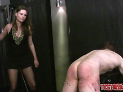 Horny housewife facial