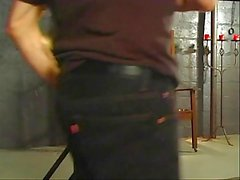 BBW hottie getting spanked by her master