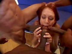 Miss Red Hair Banged By Brothers