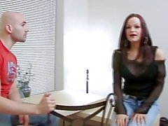 Bald guy bangs hot chick by his big dick