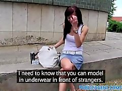 PublicAgent Adela fucks a big cock to get modelling career