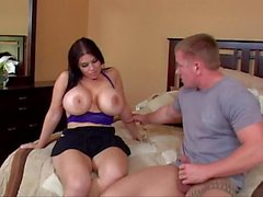 Daphne Rosen fucks neighbor wild on bed