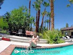 POVD - Cute Olivia Lee teases her man with her hot bikini