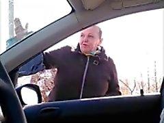 Flashing a granny in a car