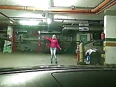 Czech girl Ellen fucked in the carpark