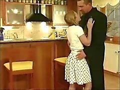 German blonde fucking older man