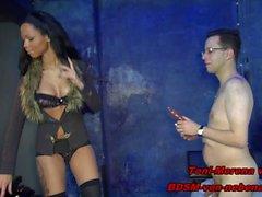 GERMAN BDSM TEEN - Strapon anal Sklave