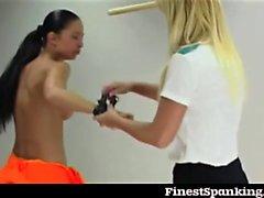 Debbi and Kia get whipped