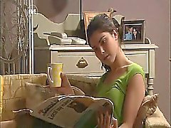 Esther Anderson first seen lesbian kissing some girl, the