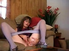 Leggy princess nylon pantyhose masturbation