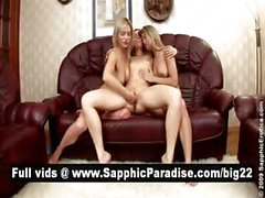 Hot blonde lesbos licking and fingering in a great three way lesbo orgy