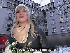 Stranger from streets fucks blonde in her apartment