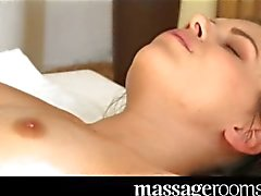 Massage Rooms - Cute young lesbian has orgasm