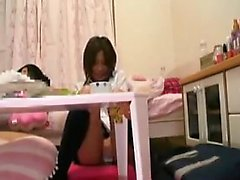 Big breasted Asian girl with a splendid ass works her mouth