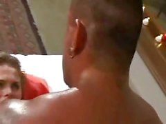 Titty latina tranny bonked by body builder