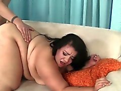 Cute and fat BBW Mia Riley takes a long dick in her pussy