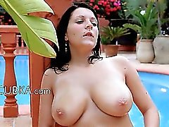 Brutal boobs and very nice chick teasing