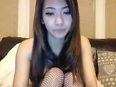 Kinky asian babe masturbates with toy