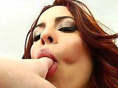 Rimjob pelirroja cariñoso queda culo pasó la lengua
