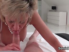 Unfaithful uk milf lady sonia exposes her massive tits