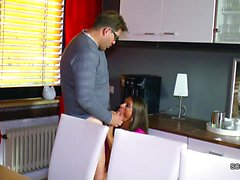 Step-Dad Seduce Hot German Step-Daughter to Fuck