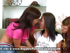 Vanda and Moni and Kelsie redhead superb lesbian couple kissing on the couch