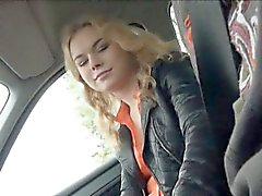 Eurobabe Nishe fucked in the backseat by nympho stranger