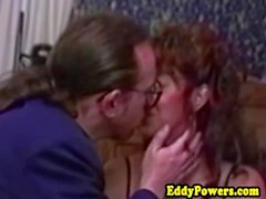 Vintage redhead assfucked by oldman
