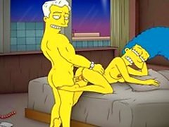 Fumetto Porn di Simpsons porno madre a Marge dispone