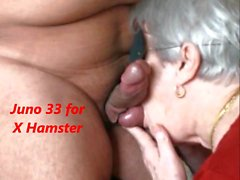 Granny swallows the cum and she likes it