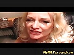 My MILF Exposed Busty granny in stockings sucking cock