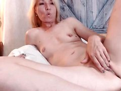 Blonde MILF with giant boobs get a dick