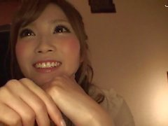 Japanese cutie sucks POV cock full