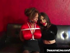 Bound Cougars Deauxma & Ashley Renee Knulla Ball Gagged!