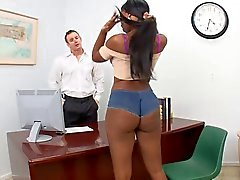 Hot girl fucks with her boss