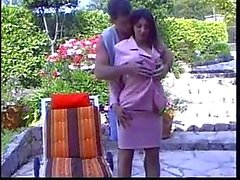 Brunette Doggystyle Analed Outdoor