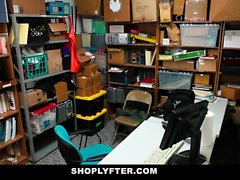 Shoplyfter - Teen Gets Blackmailed and Stripped Down