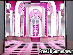 Beautiful 3d cartoon pink palace where you can fuck