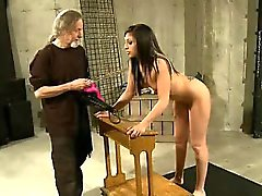 Brunette Gets Her Perfect Ass Whipped