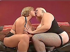 Two hot mature lesbians eating and toying the pussy to each other