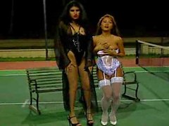 Lesbians on the tennis court
