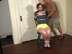 Three amateur slaves in needle bdsm and piercing pain